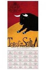Year 1996 Bullfighting Poster. Eduardo Arroyo