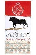 Year 1997 Bullfighting Poster. Félix de Cárdenas